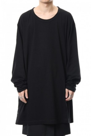 Ground Y 19-20AW Side button Long sleeve Jumbo tee Black