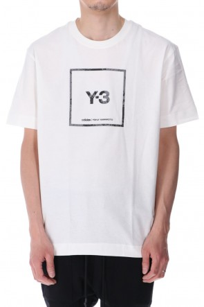 Y-321SSSquare label Graphic SS Tee Core White