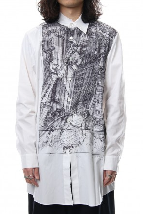 Ground Y 18SS Neck Cutting Shirt Ghost In The Shell - Ground Y