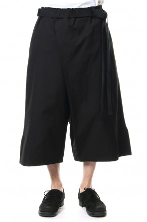 Ground Y 19SS Left wrap pants Black