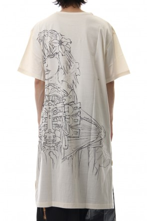 Ground Y19SSLong cut&sewn - INNOCENCE Original picture Android PT White