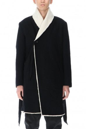 ASKyy 20-21AW Boa Wrap Coat