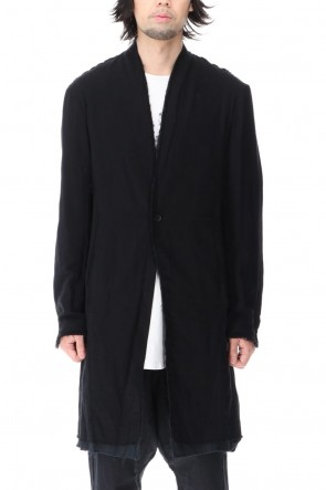 ASKyy 20-21AW Layered Long Jacket Black/Black