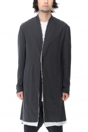 ASKyy 20-21AW Layered Long Jacket D.Gray/L.Gray