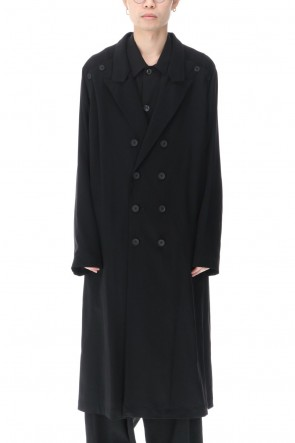 Yohji Yamamoto 21SS Double Parts Button closure Raglan dress