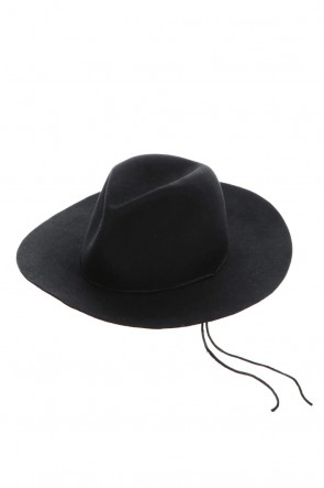 ASKyy 20-21AW Long Brim Hat Black