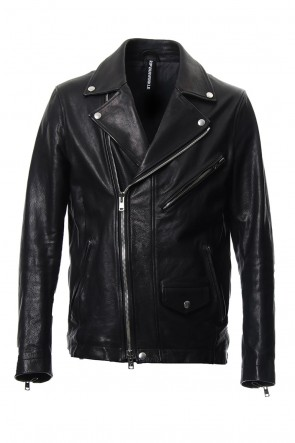 RIPVANWINKLE 18-19AW Cow Hide Leather Riders jacket RB-028 Black