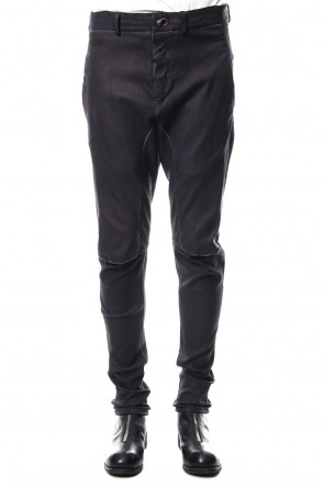 ISAAC SELLAM 18-19AW Stretch Leather Pants PISTONNE Petrole