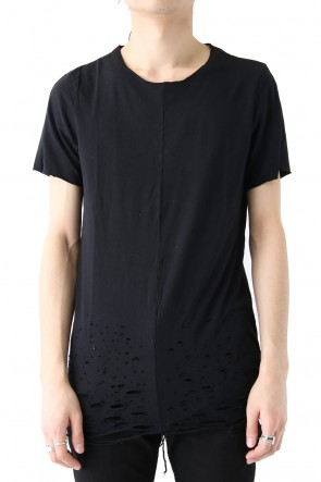 FAGASSENT 18SS Black Short Sleeve With Shotgun Decoration Hall Around Hem