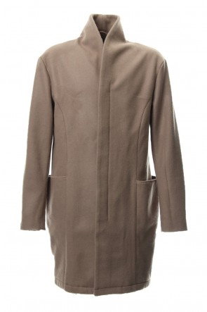 RIPVANWINKLE 18-19AW Heavy Melton Chester Coat RB-053 Camel