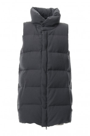 RIPVANWINKLE 18-19AW Dobby Pin Head Down Vest RB-027 CB.Black