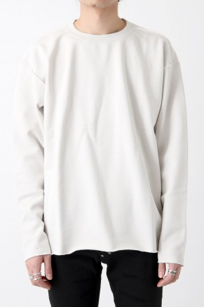DIET BUTCHER SLIM SKIN 18SS Cut Off Sweat Shirt