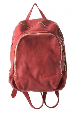GuidiBASICSoft Horse Leather Back Pack - DBP05 - RED