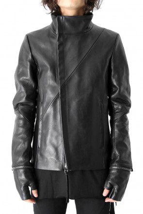 FAGASSENT 17-18AW Gloved Twisted Sleeve Calf Leather Jacket