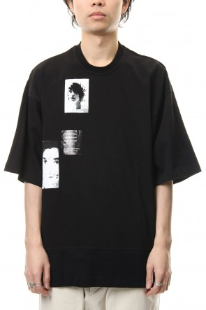 JULIUS 19SS PRINT BIG T-SHIRT Black