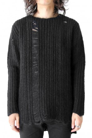 Wool Damaging Crush Long Sleeve Knit
