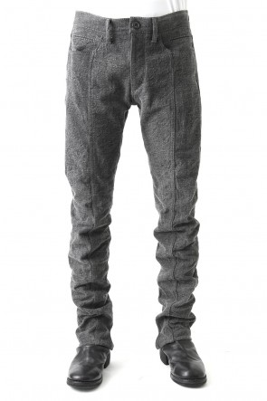 SADDAM TEISSY 18SS Sumi Dyed 12oz Curved Denim Pants