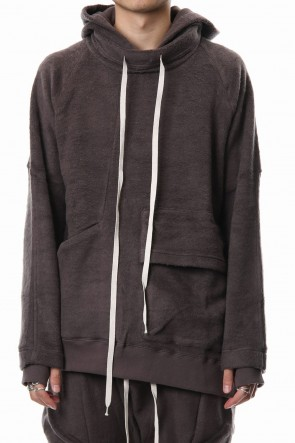 The Viridi-anne 18-19AW Brushed Fleece Parker Gray