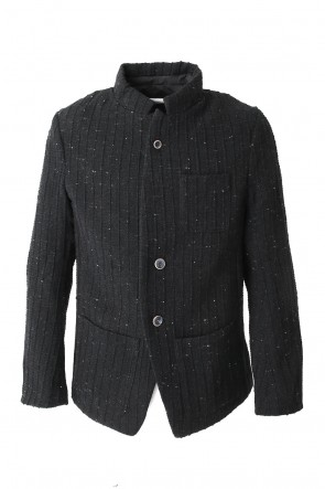 Jacket JK55 Wool Cotton Slub Yarn Tweed