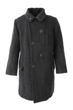 individual sentiments 17-18AW Coat CO35 Wool Cotton Stainless Steel Mixing W-Face