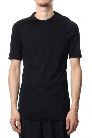 DEVOA 19SS Short sleeve Indian cotton jersey ( SUVIN ) - Black