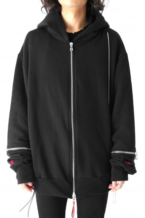 CAVIALE 17-18AW ZIP DOWN HOODIE