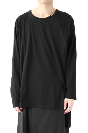 Ground Y 18SS Asymmetric Long Sleeve 30/C Tight Tension Jersey
