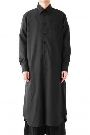 Ground Y 18SS  Long Shirt Dress Double Serge