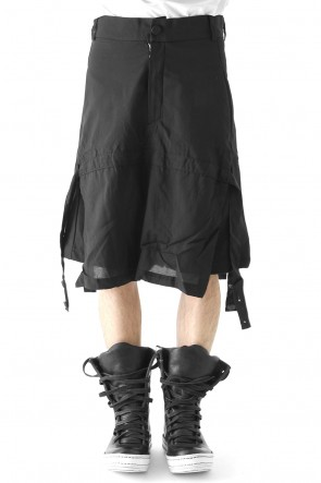 by H New York 17-18AW Skirted Paneled Shorts