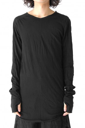 Irregular Raw Hem Long Sleeve