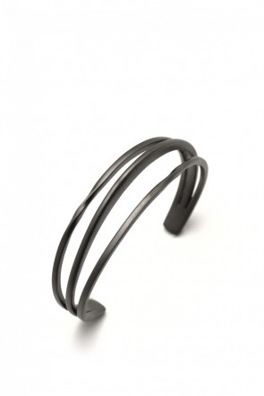 IVXLCDM  IVXLCDM TRINITY BANGLE TWIST&SLASH MATTE BLACK