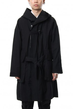 The Viridi-anne 18-19AW Random Stripe Coat