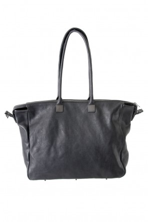 Trapezium Boston Bag Cow Leather