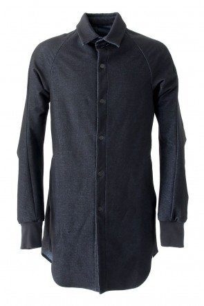 Long Shirt Wool Stretch Denim