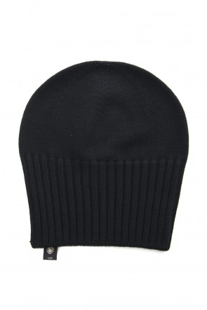 wjk 18-19AW 2-way knit cap - black