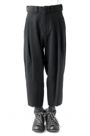 Cropped Pants Wool Stripe