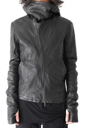 LEON LOUIS 17-18AW GUSSET HOOD LEATHER JACKET