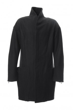 RIPVANWINKLE 18-19AW Heavy Melton Chester Coat RB-053 Black