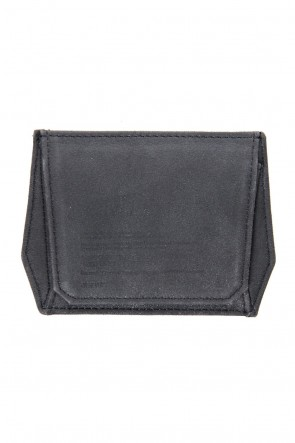 JULIUS 18PF Polygon Coin & Card Case (COATED GOAT SUEDE)