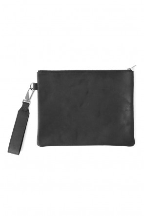 DIET BUTCHER SLIM SKIN 17-18AW Velour Leather Clutch Bag with Handle