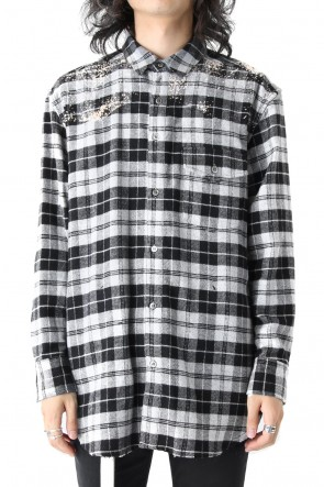 Hand Bleached Flannel Check Shirt