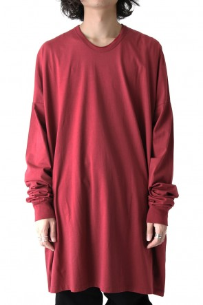 COTTON BOIL JERSEY EXTRA OVER LONG SLEEVE CUT SEW Ver.1