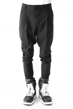 Wool Stretch 2Tucks Tapered Pants