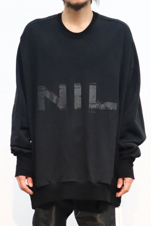 NILøS 19-20AW NIL BIG SWEAT Black