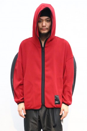 NILøS 19-20AW SLASHING ZIP HOODIE Red