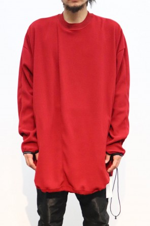 NILøS 19-20AW TUCKED OVERSHIRT Red