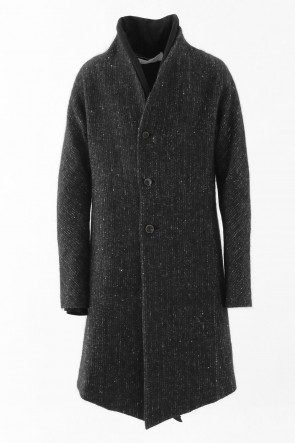 individual sentiments 16-17AW Nep Wool Mohair Tweed Layered Coat