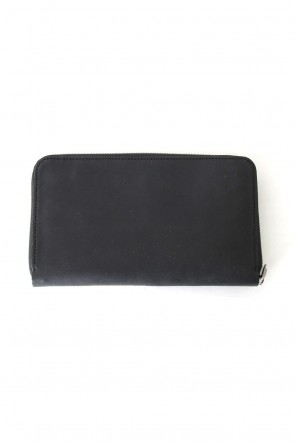 Round Zip Cow Leather Long Wallet