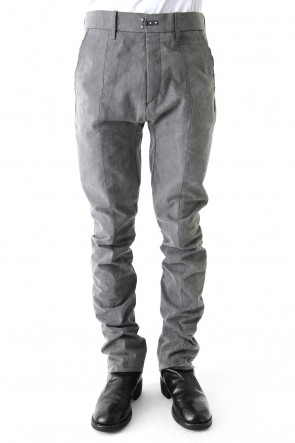 SADDAM TEISSY 17-18AW Semi curve trousers Gray