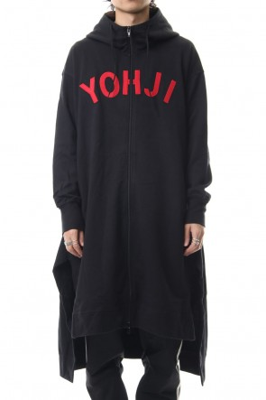 Y-3 19-20AW Yohji Letters Full zip Long hoody Black